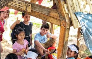 「北京拓展」2021木屋建造夏令营(5天)丨小骑士化身自然造梦师,搭建森林木屋